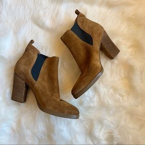 Marc Fisher Mallory Brown Suede Ankle Boots